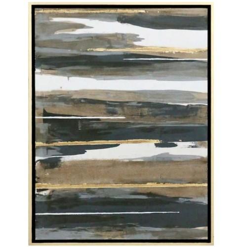 Espas Abstracto Con Marco (Oro)