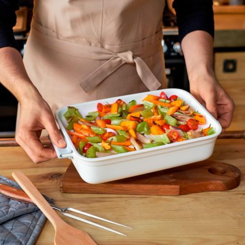 Cooking E Fuente Horno con Tapa Rectangular 36x26 cm