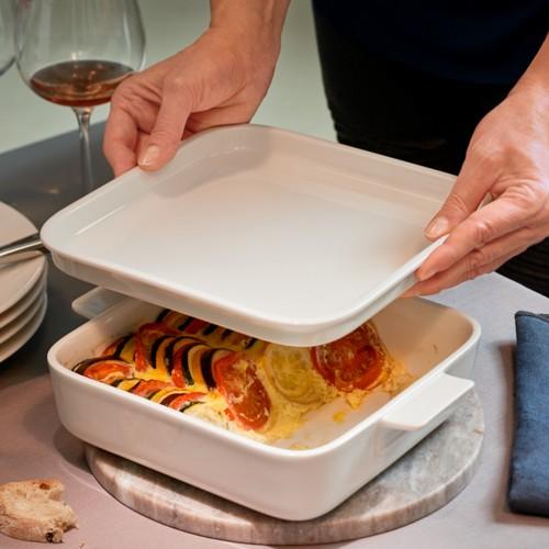 Cooking E Fuente Horno con Tapa Cuadrado 22x22 cm